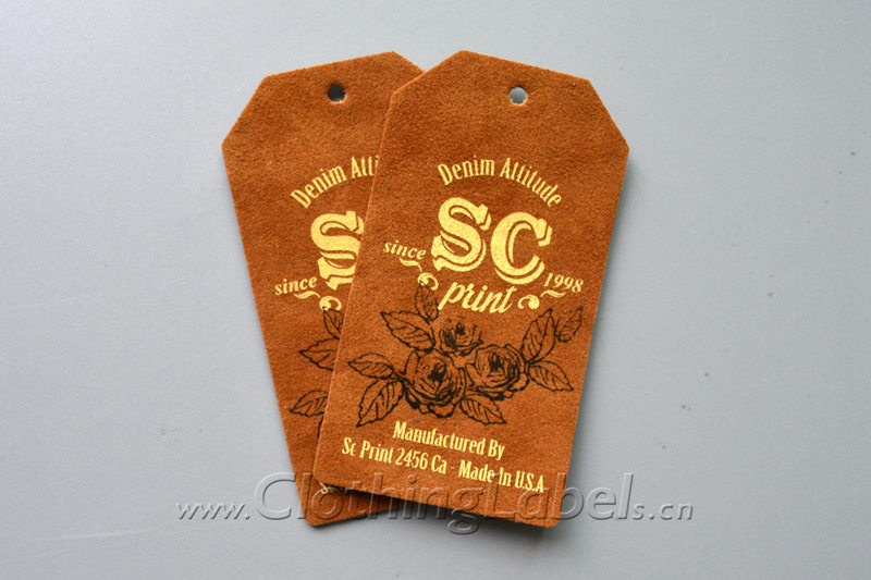 What is the function of leather labels?